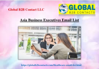 Asia Business Executives Email List