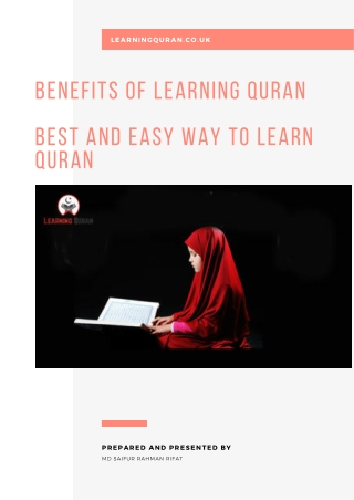 Easy way to learn quran and benefits of learning quran