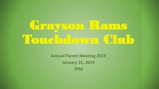 Grayson Rams Touchdown Club