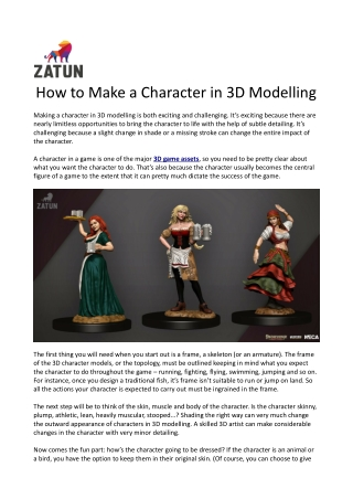 How to Make a Character in 3D Modelling