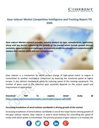Gear Reducer Market