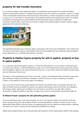 property for sale nicosia cyprus - Residential and New Developments