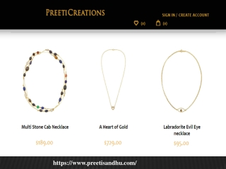 Pearl Necklaces at preetisandhu.com