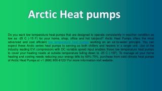 Quality Low Temperature Heat Pumps