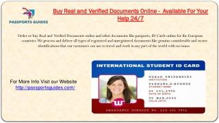 Verified Scannable Fake Id - Passports Guides