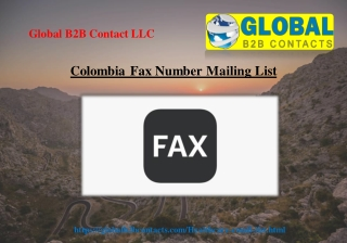 Colombia Fax Number Mailing List