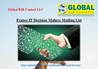 France IT Decision Makers Mailing List