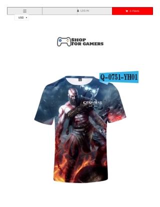 God Of War Game 3D T-Shirt