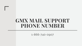 GMX Mail Support【1-866-740-0907】Phone Number