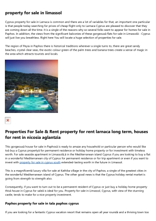 property in limassol cyprus cheap houses
