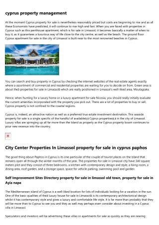 100 Properties - property for sale nicosia cyprus