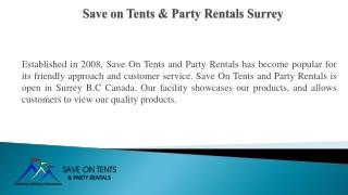 Event Rentals in Surrey