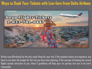 Ways to Book Your Tickets with Low-fare from Delta Airlines