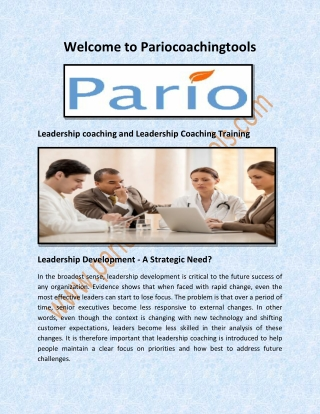 Leadership coaching and Leadership Coaching Training