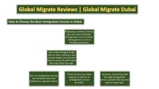 Global Migrate Reviews   Global Migrate   Global Migrate Dubai