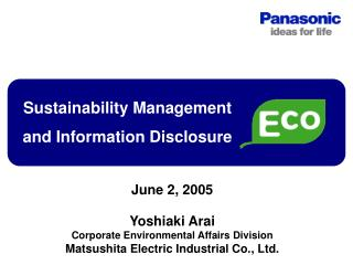 Sustainability Management  and Information Disclosure