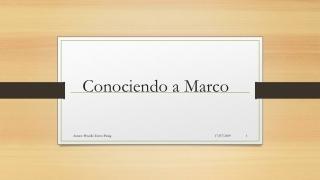 PUBLICO MI ACTIVIDAD: CONOCIENDO A MARCO