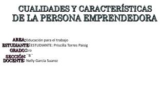 PUBLICO MI ACTIVIDAD: CARACTERÍSTICAS DE LA PERSONA EMPRENDEDORA