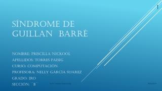 PUBLICO MI ACTIVIDAD: SÍNDROME DE GUILLAN BARRE