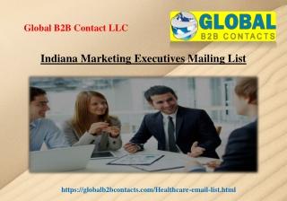 Indiana Marketing Executives Mailing List