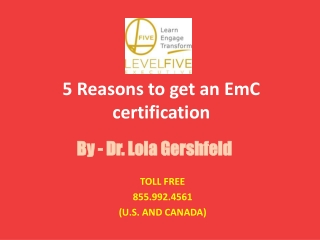 5 Reasons to get an EmC certification Imotional Leadership Training
