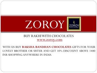 Buy Online Rakhi Chocolate Gift Hampers at Zoroy