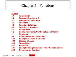 Chapter 5 - Functions