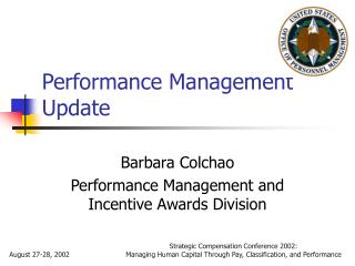Performance Management Update