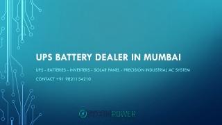 UPS Battery Dealer In Mumbai - Sycom Power