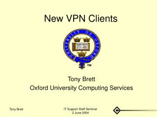 New VPN Clients