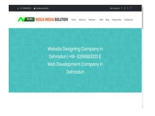 Website Designing Company in Dehradun