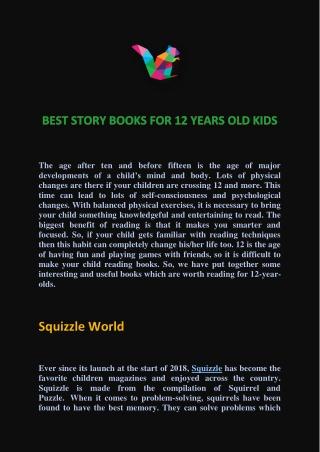 BEST STORY BOOKS FOR KIDS