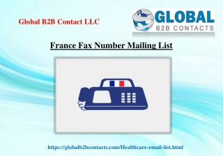 France Fax Number Mailing List