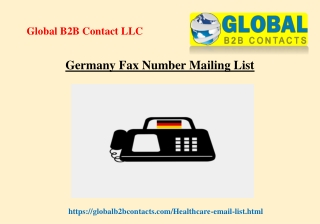 Germany Fax Number Mailing List