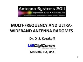 MULTI-FREQUENCY AND ULTRA-WIDEBAND ANTENNA RADOMES