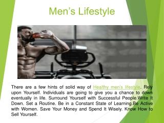 Men's Lifestyle