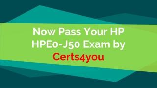 HPE0-J50 Braindumps