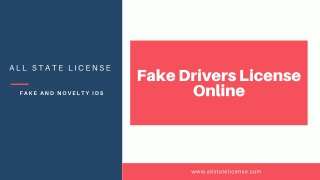 Fake Drivers License Online | All State License