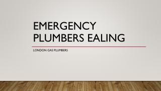 Emergency Plumbers Ealing