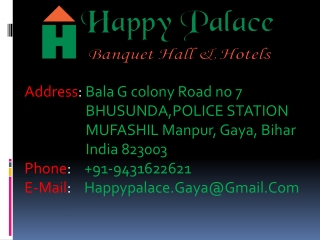The hotels in Gaya.
