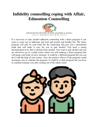 Infidelity counselling coping with Affair, Edmonton Counselling