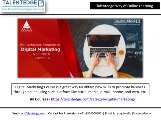 Digital Marketing Certificate Course