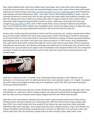 Situs Judi Poker Online Jempolan