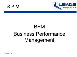 BPM  Business Performance Management