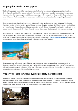 24 Hours to Improving property in larnaca cyprus
