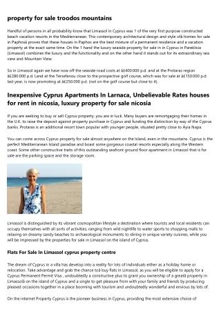 luxury property for sale in limassol - Premium Properties