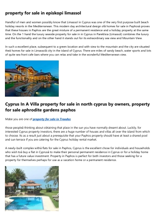 How to Inspect property in larnaca cyprus by Buyers
