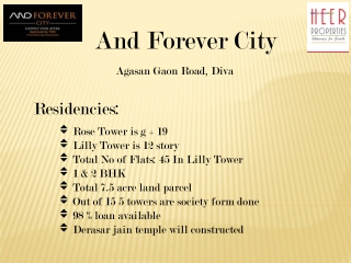 And Forever City New Launch At Agasan Village, Diva   Mumbai