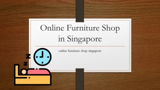 Online Furniture Shop in Singapore