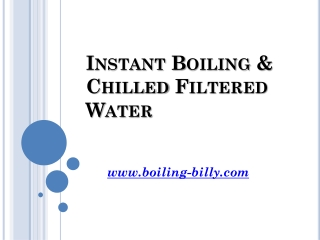 Instant Filtered And Boiling Water